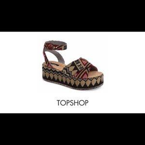 Topshop Whisper Platform Sandals